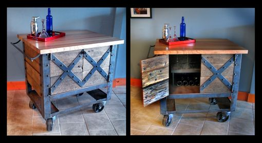 Custom Made Vintage Industrial Furniture - Metal & Wood Tables