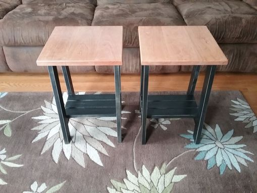 Custom Made Tresle Style Cherry End Tables