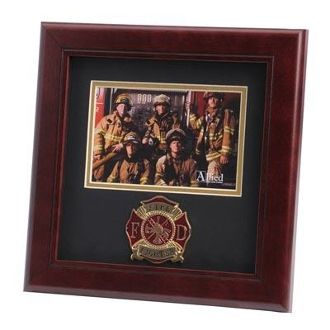 Custom Made Firefighter Medallion Landscape Picture Frame