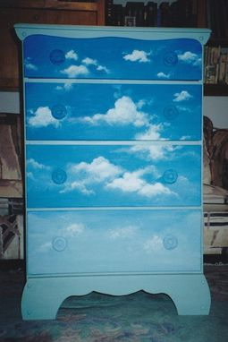 Custom Made Chests And Cabinets Painted With Mural Scenes