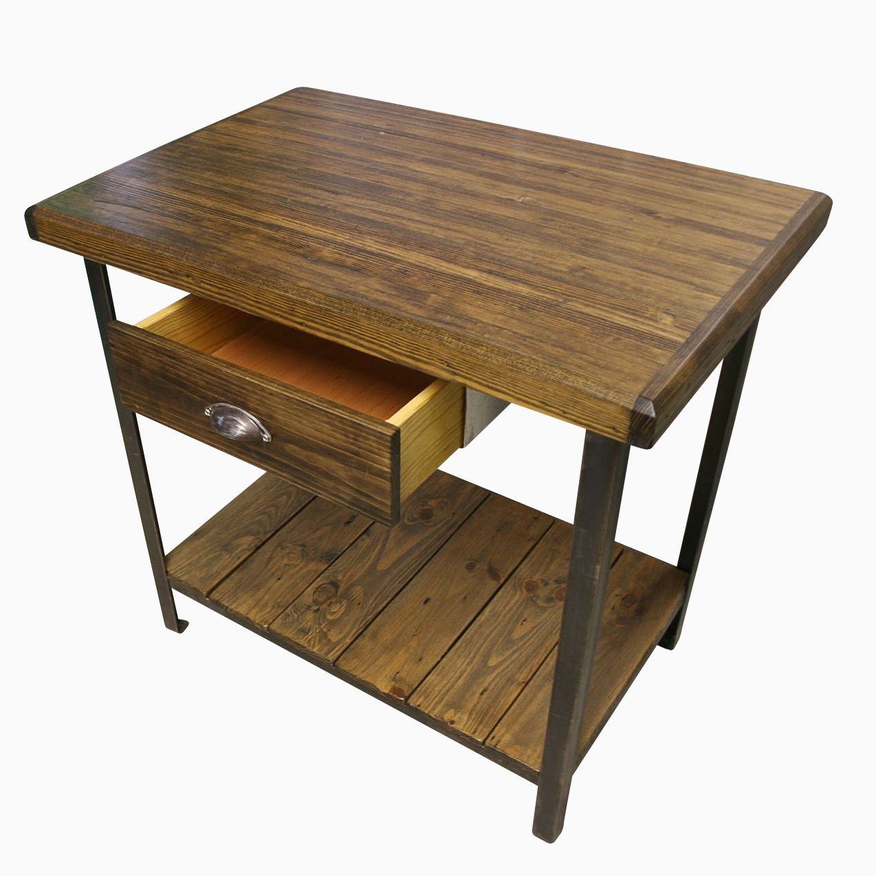 buy a made reclaimed wood industrial kitchen island