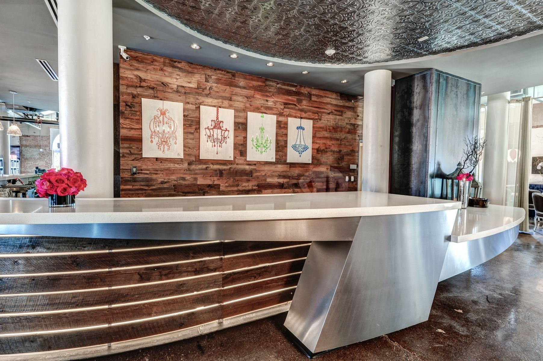 Hand Crafted Custom Reclaimed Wood Walls For Nylo Hotel Dallas by R