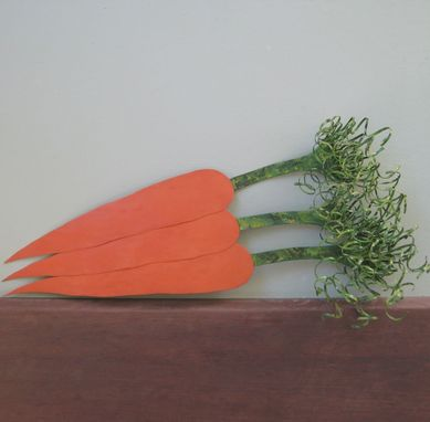 Custom Made Handmade Upcycled Metal Carrots Wall Art Sculpture