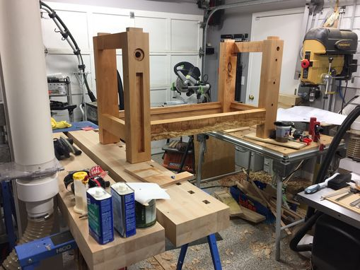 Custom Made Roubo Workbench With Benchcrafted Hardware