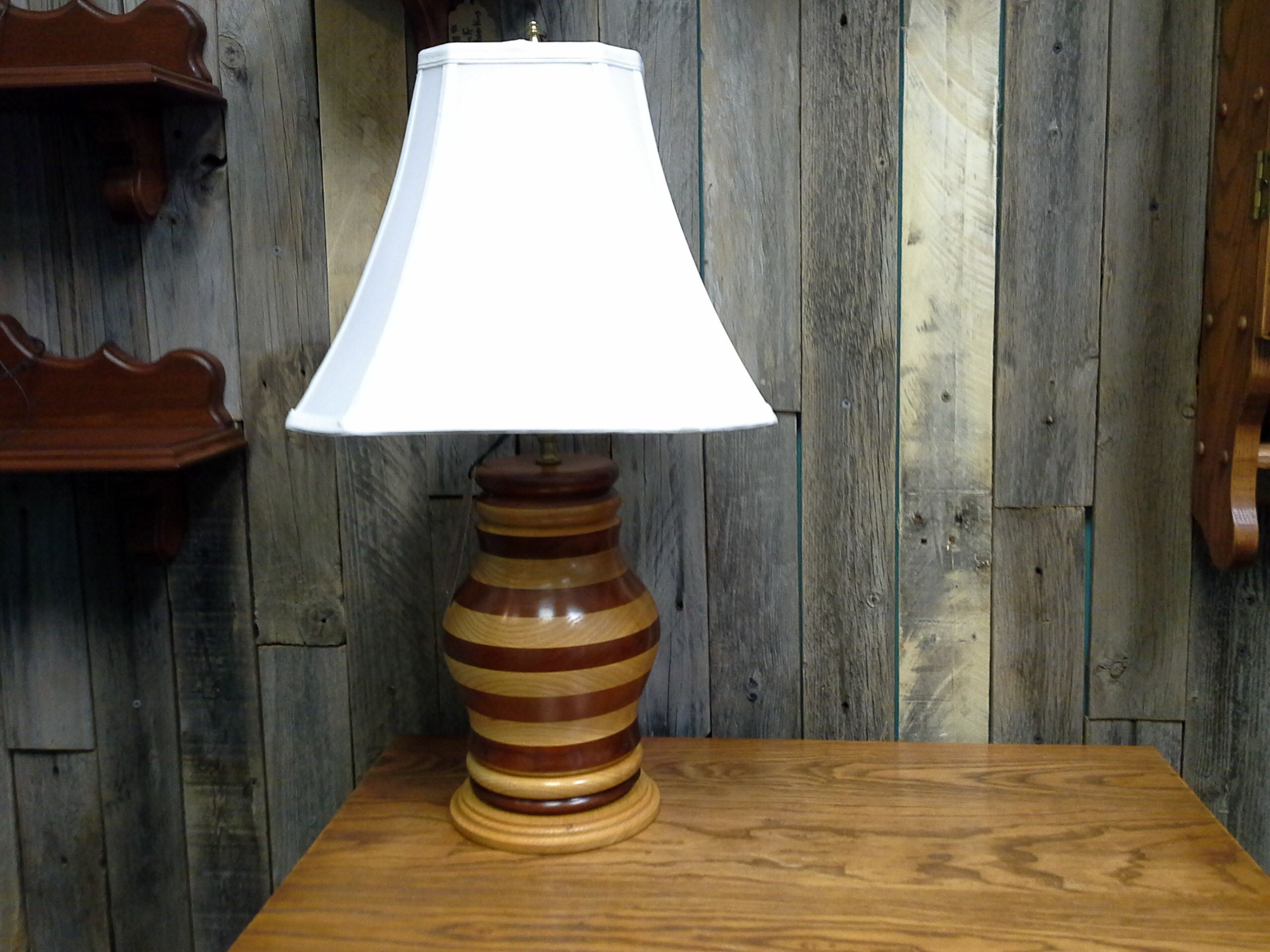 Buy a hand crafted woodturned table lamp made to order from custom made woodturned table lamp aloadofball