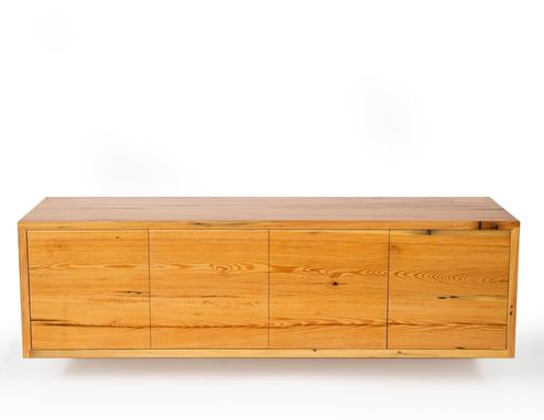 Custom Made Reclaimed Wood Floating Credenza