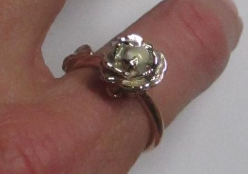 Custom Made Rose Ring In Rose And White Gold With Moonstone Center Stone