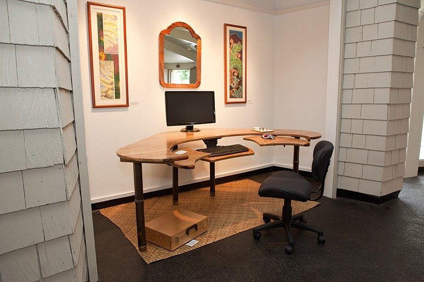 Handmade Custom Computer Desk By Keaau Fine Art