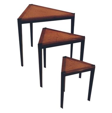 Custom Made Mahogany & Anigre Nesting Tables