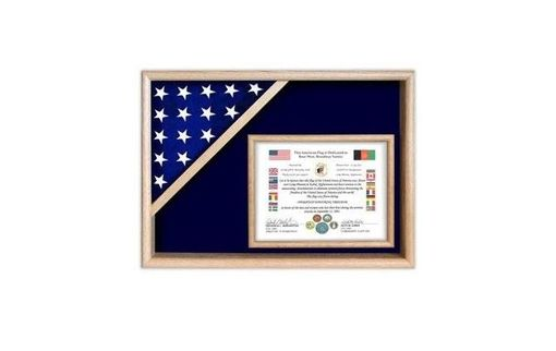 Custom Made Flag Display Cases - Certificate Flag Shadow Box