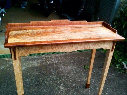 Custom Made Hall Table In Blackheart Mango Crotch And Koa