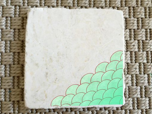 Custom Made Mermaid Stone Coasters (Set Of 4)