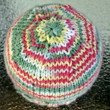 Custom Made Knitted Baby Hat Cap Yellow Green Pink Warm Infant