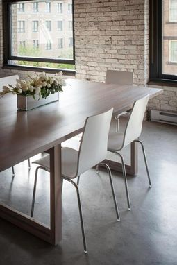 Custom Made Bridge Table In Gastown Loft Residence