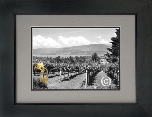 Custom Made Limited Edition Vineyard Print Accented with Karat Gold Applique