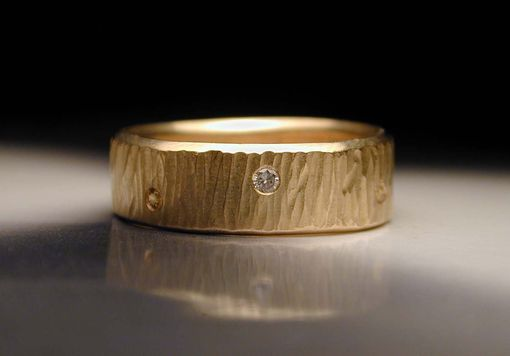Custom Made Men's Or Women's Hand Textured Wedding Rings