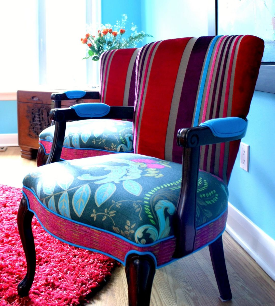 Handmade Upholstered Chair Vintage Chair And Settee In