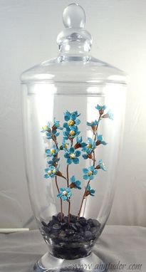 Custom Made Lampwork Glass Floral Arrangement