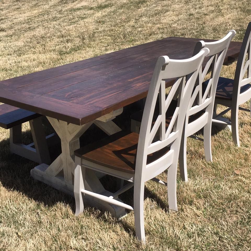 Handmade Dining Room Tables: Handmade X Style Farmhouse Dining Room Table By Boardman