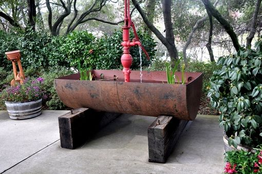 "Custom Made Recycled Oil Barrel Water Fountain ""The Big Pappa''"