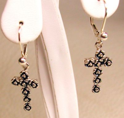 Custom Made Rose Cross Earring