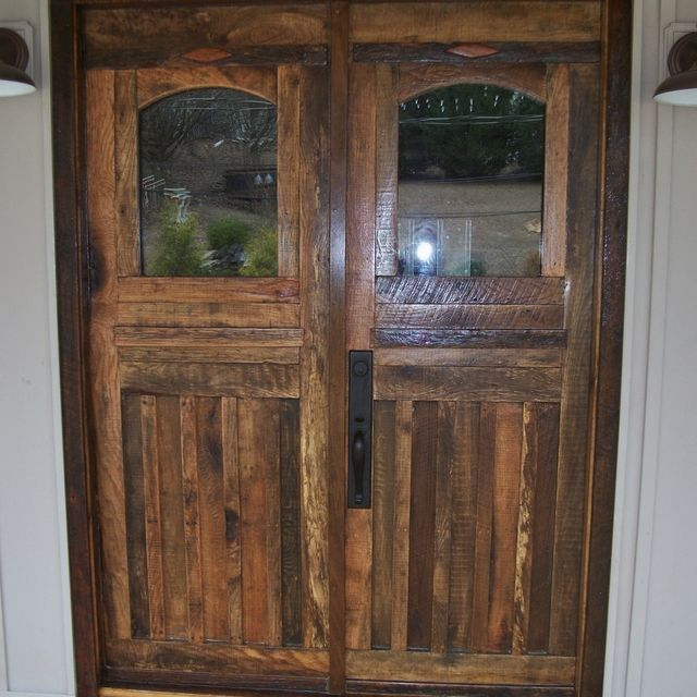 Hand Crafted Barn Wood Front Doors And Interior Door By Furniture