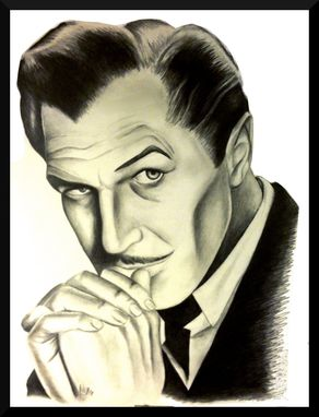 Custom Made Hand Drawn Portraits (Vincent Price)