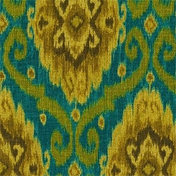 Custom Made Iman Home Ubud Ikat In Tourmaline Eggplant Citrine Lime Teal 96l X 50w