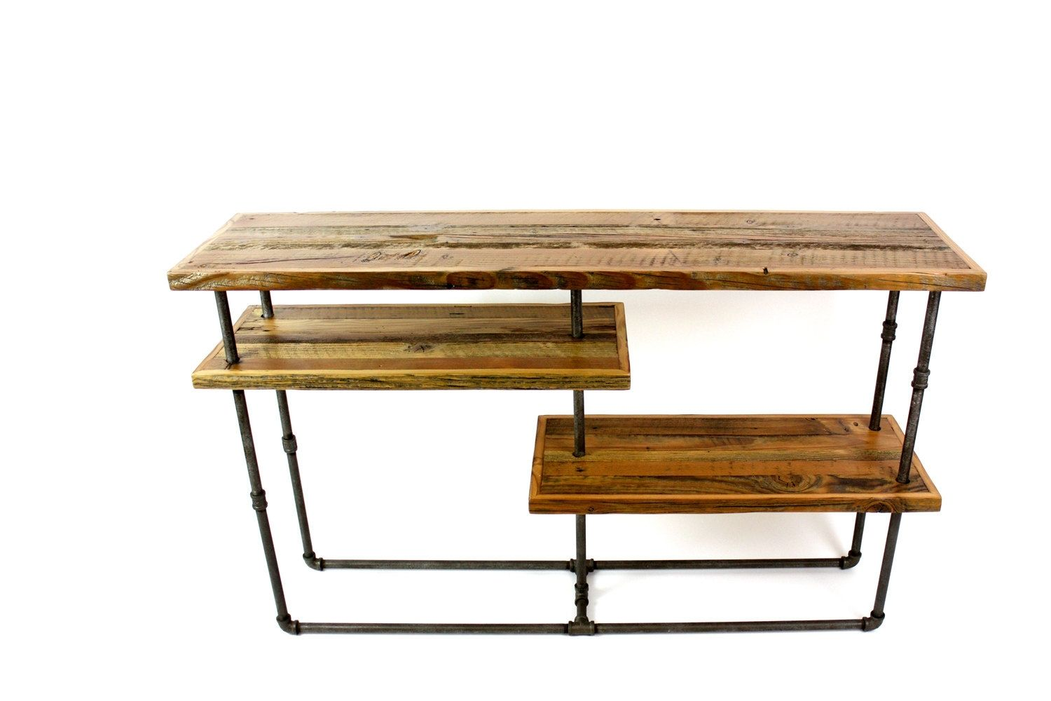 Custom \'Galvy\' Industrial Console // Reclaimed Wood Sideboard by ...