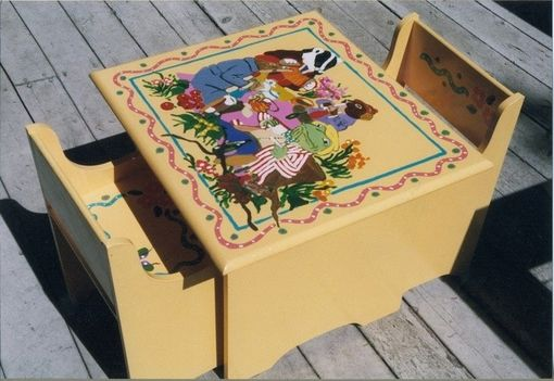 "Custom Made Commissioned ""Wind In The Willows"" Table And Chairs"