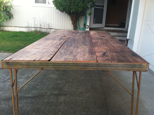 Custom Made Industrial Dining Table