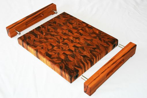 Hand Made Tigerwood End Grain Cutting Board By Carolina