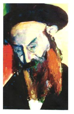 Custom Made Painting:  The Rabbi By Maggie Schmidt