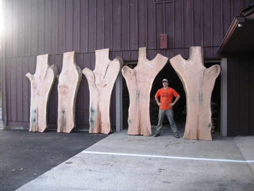 Custom Made Live Edge Slab Tops We Make The Slab Out Of Trees
