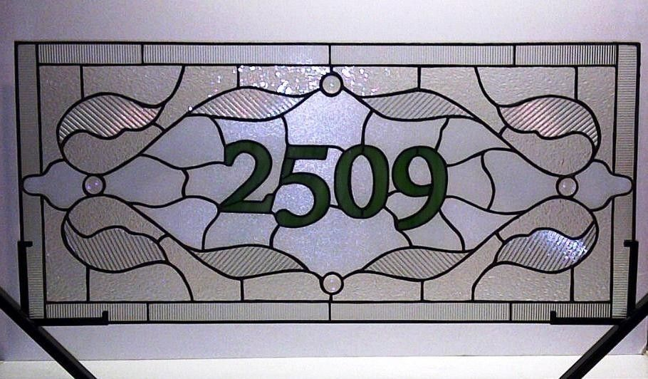 Custom Made Stained Glass Window Panel / Traditional Design With ...