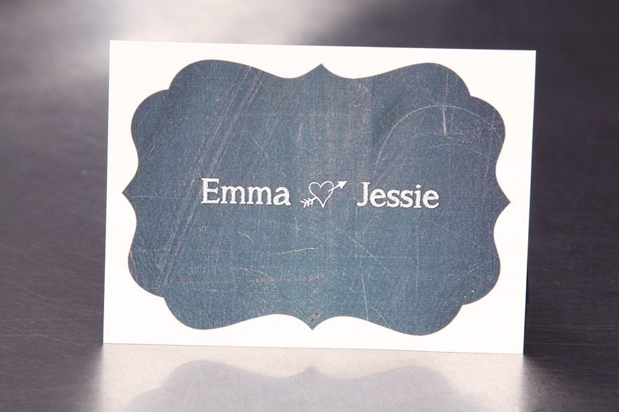 Hand Made Personalized Wedding Stickers - Chalk Board - Guest Bag ...