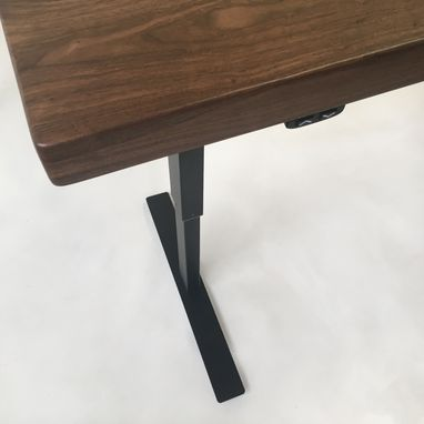 custom standing desk kidney shaped mid. modern adjustable standing desk walnut electric with drawer custom kidney shaped mid m