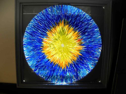 Custom Made New Contemporary Art Glass   Laminated Window