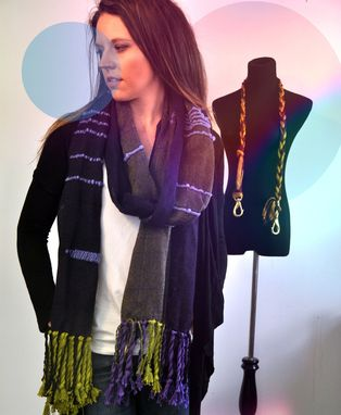 Custom Made Woven Scarf With Tapestry Inlay