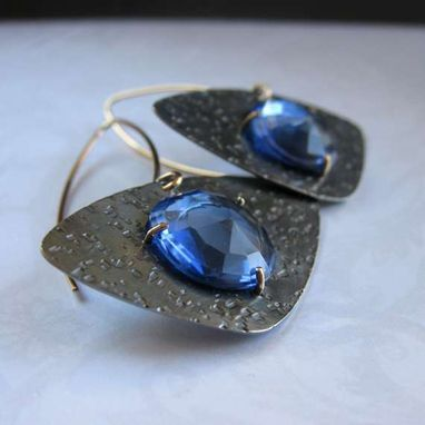 Custom Made Sterling Silver Earrings - 10k Gold - Rose Cut Gemstones