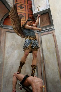 Custom Made St. Michael The Archangel, Custom Sculpture.