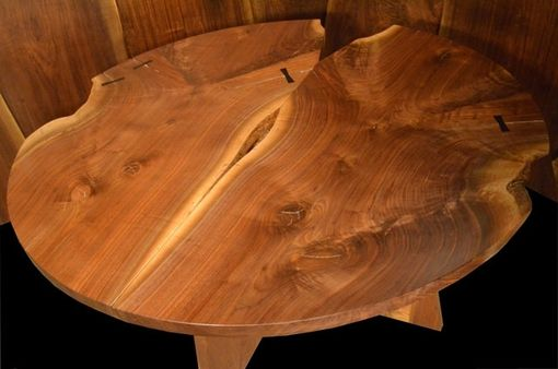 "Custom Made 5'8"" Double Walnut Crotch Round Table-Recycled/Salvaged Wood"
