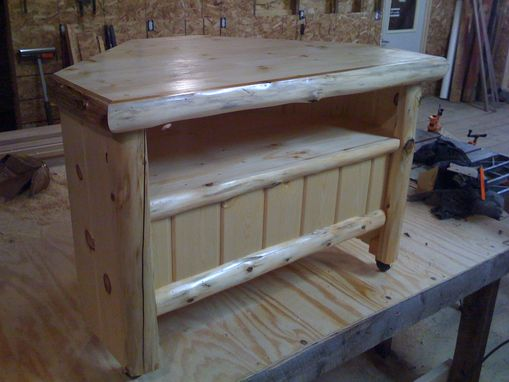 Custom Made Log Tv Stand