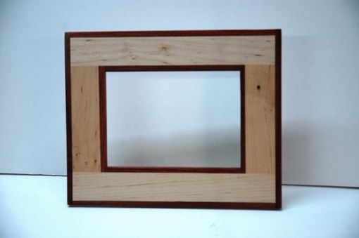Custom Made Maple & Padauk Standing Picture Frame