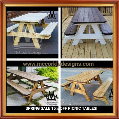 Custom Made Picnic Tables