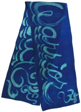 Custom Made Royal Blue Spirit Warrior Script Scarf
