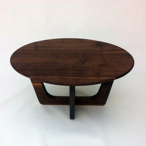 Coffee Tail Table Made From Solid Walnut In Atomic Era Adrian Pearsall Inspired