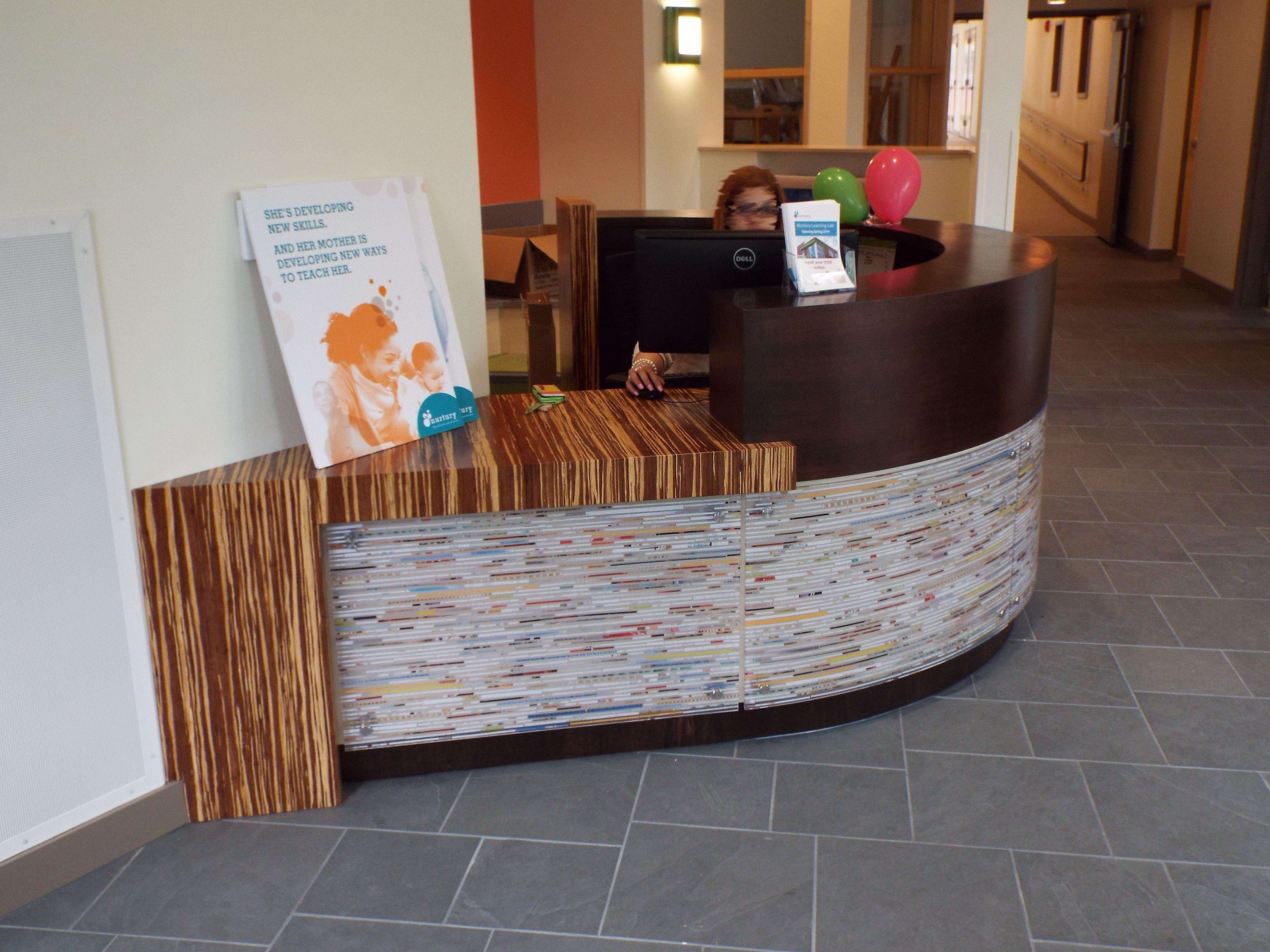 Custom Made Modern Circular Reception Desk By Dwayne