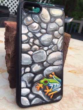 Custom Made Iphone 6 Protective Rubber And Leather Case