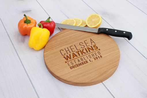 Custom Made Personalized Cutting Board, Engraved Cutting Board, Custom Wedding Gift – Cbr-Wo-Chelseawatkins